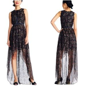 Adrianna Papell | Floral Lace High Low Dress